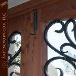 Renaissance Style Wrought Iron & Wood Entrance Gate