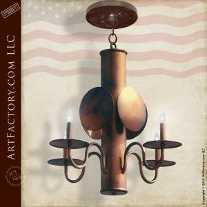 Colonial Style Copper Chandelier