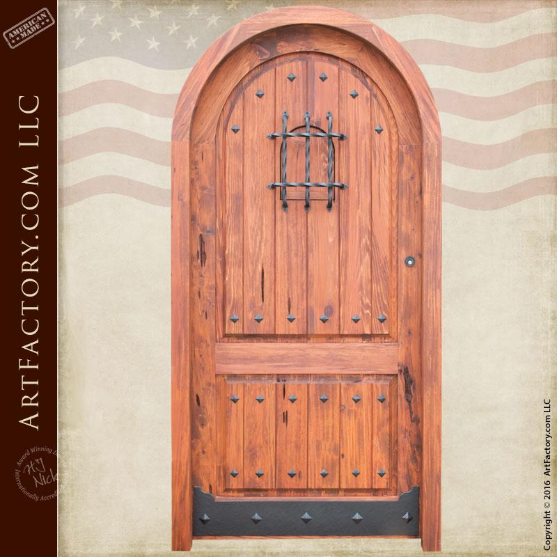 solid cedar speakeasy door solid cedar speakeasy door & Custom Door Entrance Arched Castellowith Door Viewer - Scottsdale ...