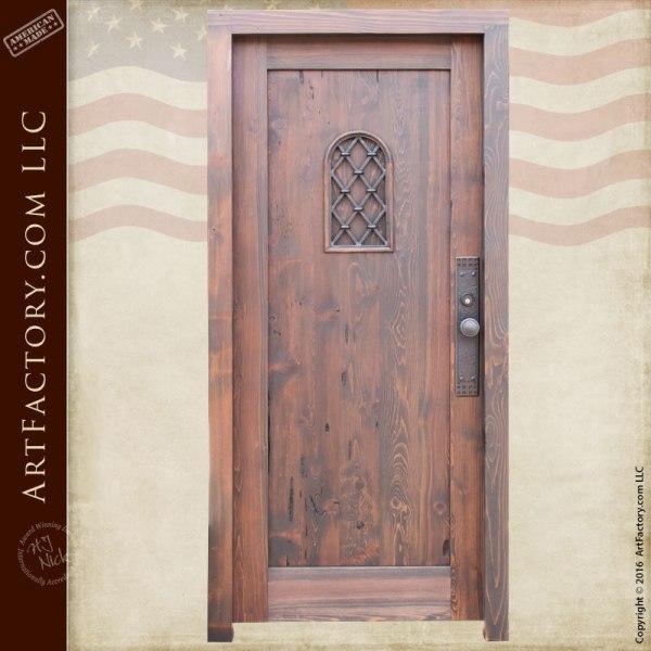 custom solid cedar wood door