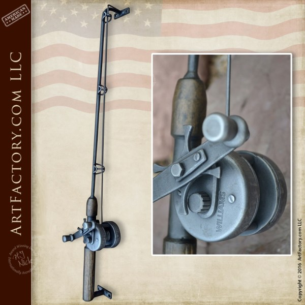 fishing rod door pull