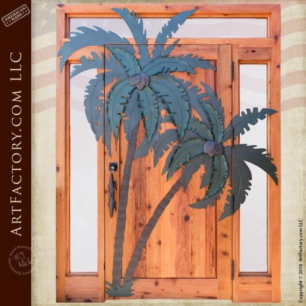 palm tree theme custom door