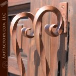 custom door with iron clavos