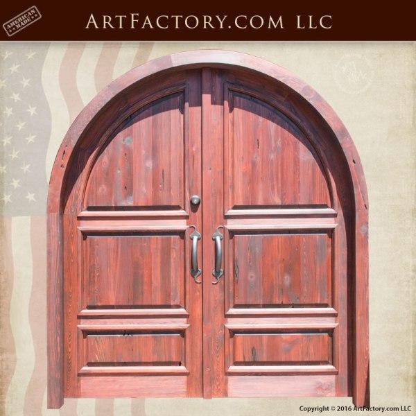 arched entryway custom doors