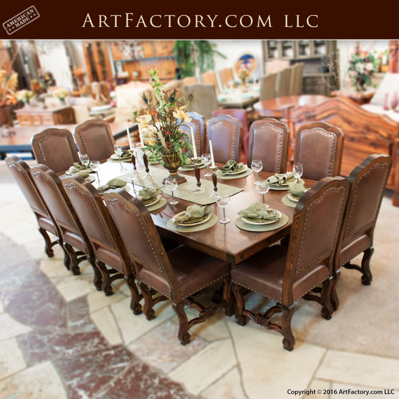 Regal Manor House Custom Dining Table, End Seating
