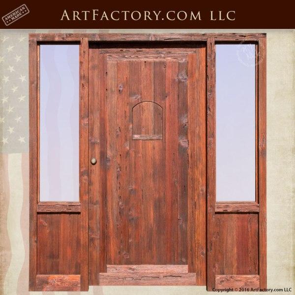 custom wood exterior door door with sidelight scottsdale art factory
