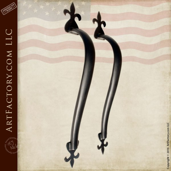 Fleur-de-lis Castle Hardware Custom Door Handles
