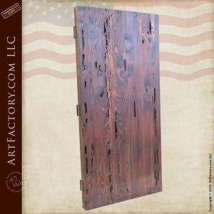 Cedar Cypress Fortified Custom Wood Entry Gate