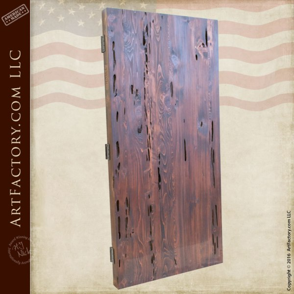 Cedar Cypress Fortified Custom Wood Entry Gate