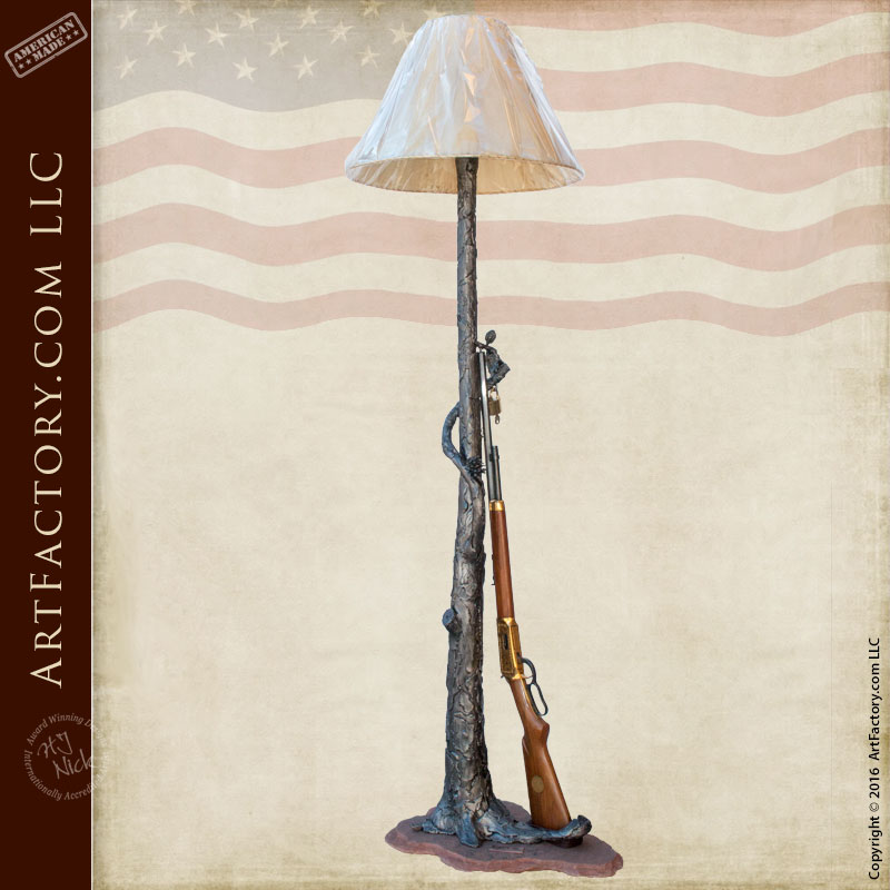 custom western theme floor lamp