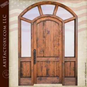 custom semi-arched front door
