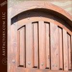 solid wood entryway door