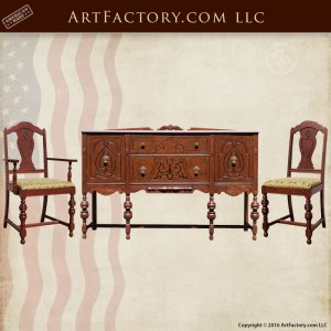 Antique Heirloom Restored Custom Dining Furniture
