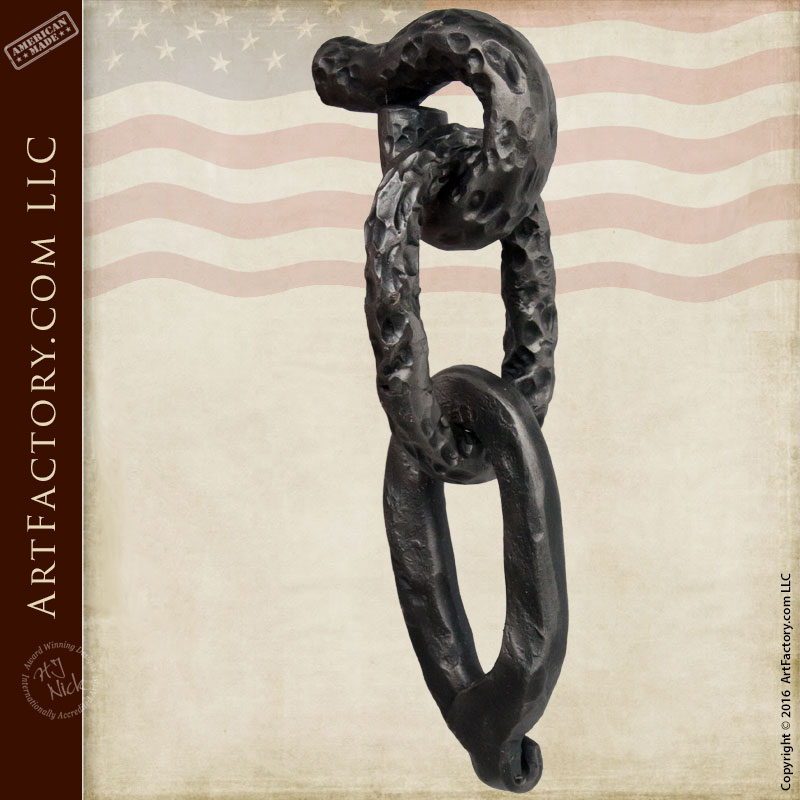 Hand Forged Antique Hardware, Castle Chain