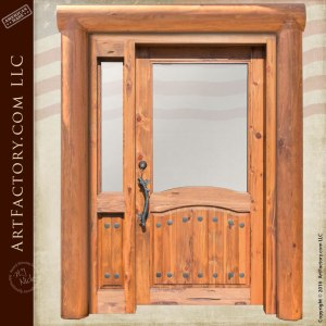 log style front door