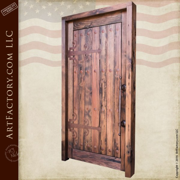 solid wood custom security door