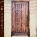 solid wood custom security door