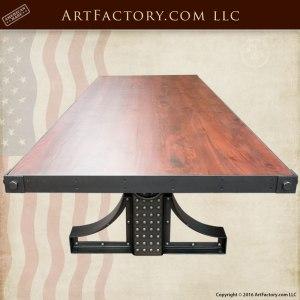 American Industrial Crank Table, Custom Made Furniture