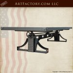 American Industrial Crank Table, Custom Made Furniture