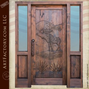solid wood cabin door