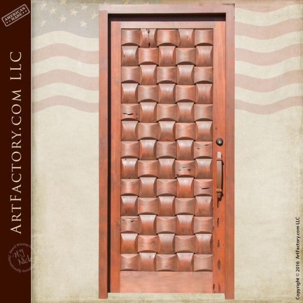 hand crafted door