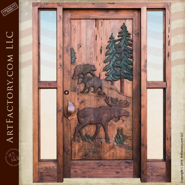 moose lodge hand carved door