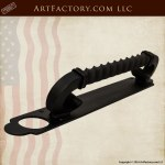 Offset Spiral Twist Wrought Iron Custom Door Hardware