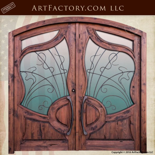 Custom Wooden Doors Art Nouveau Style Scottsdale Art