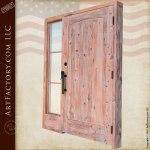 custom wood door with sidelight