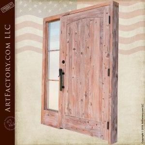 handcrafted solid wood front door
