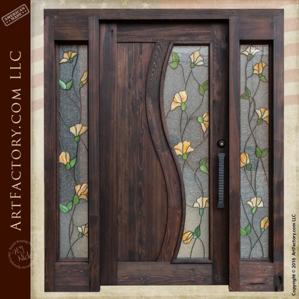 Luxury Front Entry Doors with Stained Glass