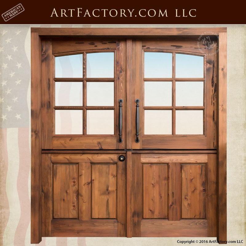 Solid Wood Double Dutch Entry Doors Custom Exterior Doors