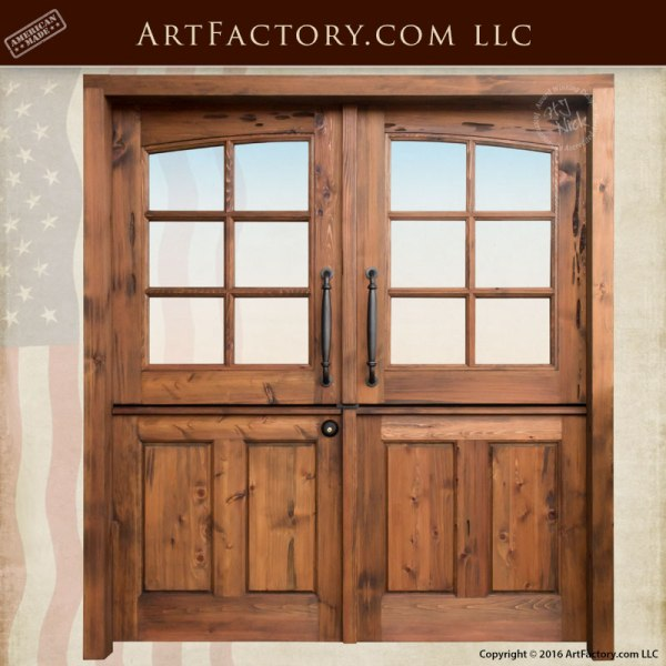Solid Wood Double Dutch Entry Doors - Custom Exterior Doors ...
