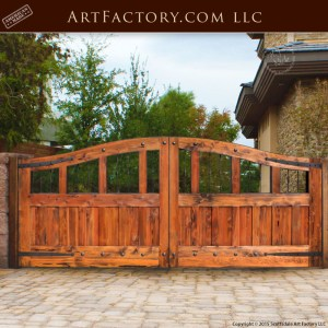 eyebrow arched wooden gate