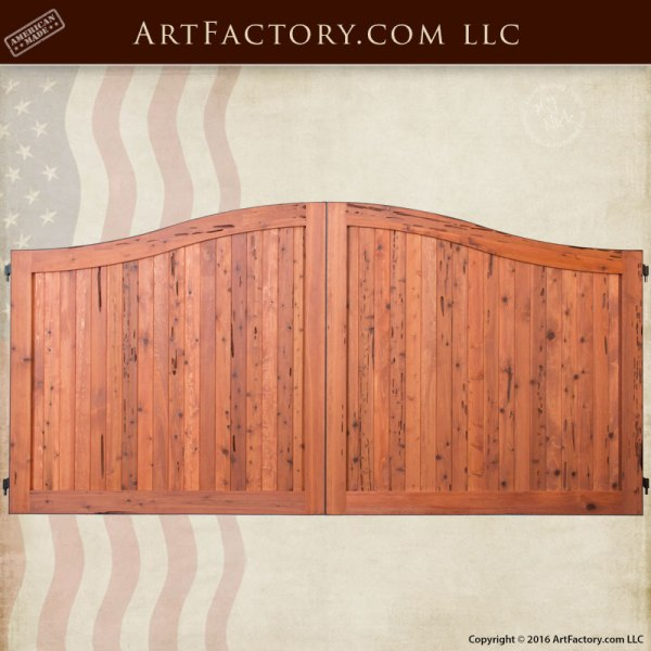 Simple Bell Curve Custom Wood Gate