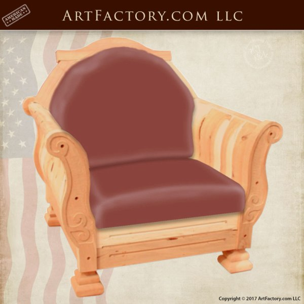 handcrafted leather chair