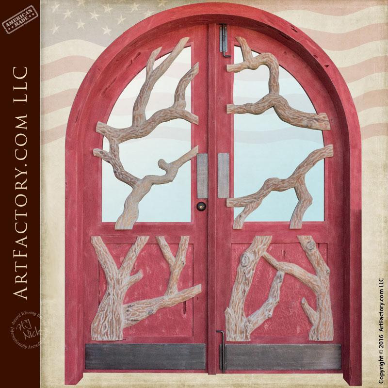 custom-wood-entrance-barn-doors
