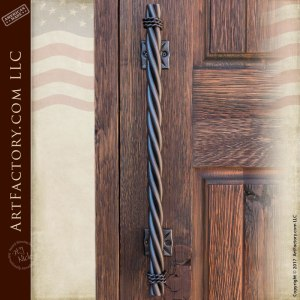 Long Twist Custom Door Pulls, Hand Forged