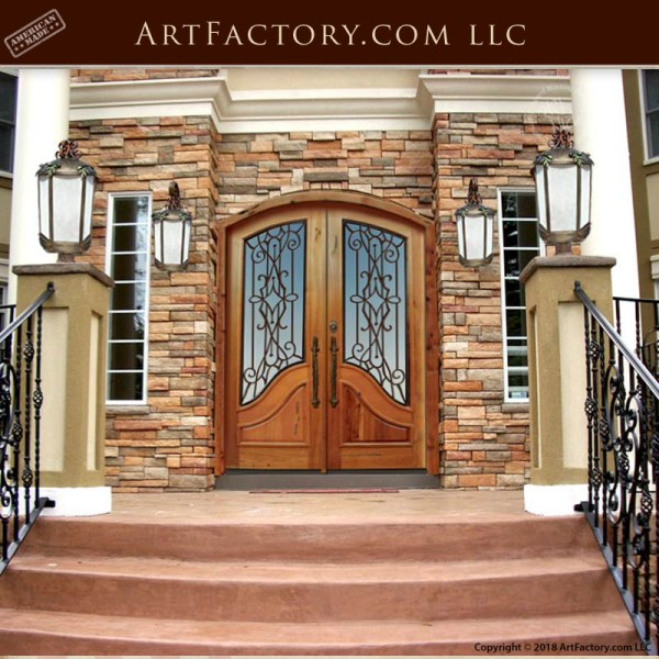eyebrow arch top double doors