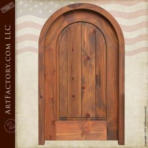 handmade wood interior door
