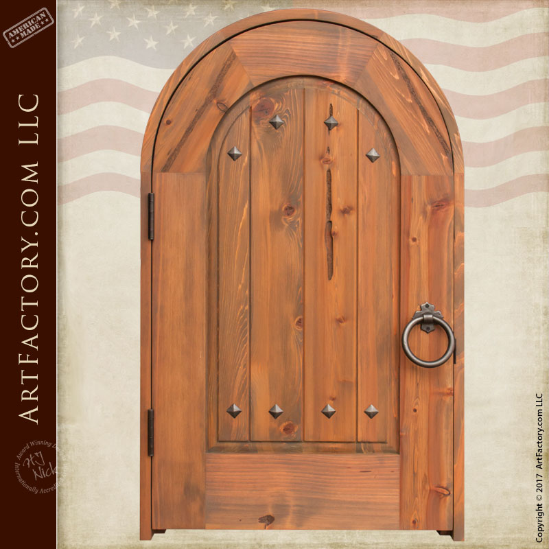 arched solid wood door