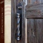 gambrel style arched entry door