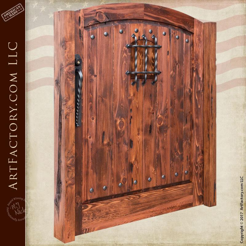 Custom Wood Gates: Custom Wood Fortified Entrance Gate