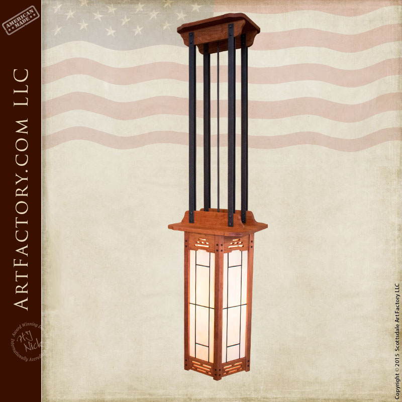 Craftsman Lighting Pendant Chandelier Handmade To Fine Art Quality u2013 ACL330 & Craftsman Lighting: Inspired By The Arts and Crafts Movement
