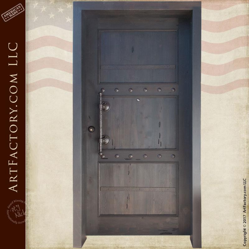 castle entrance wood door