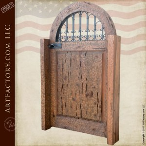 arched wood garden gate