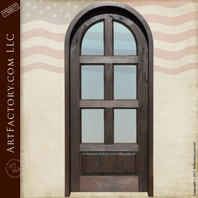 Elegant Custom Arched Interior Door ...