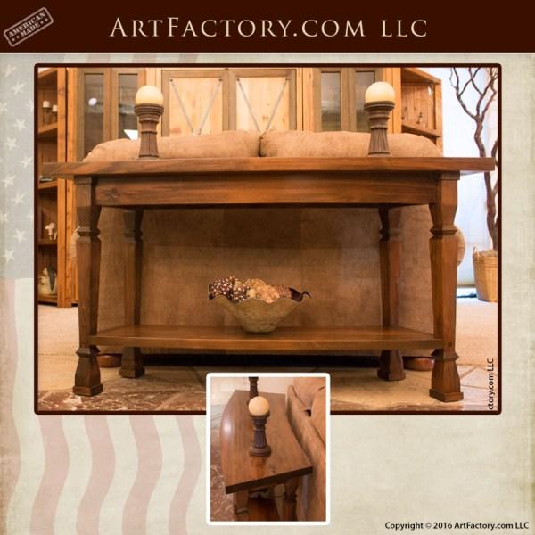 Curved Cedar Sofa Table