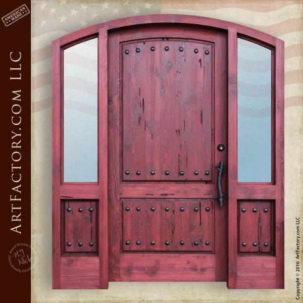 Custom Arch Grand Entry Door Handcrafted With Side Lights