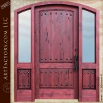 arched wood entry door